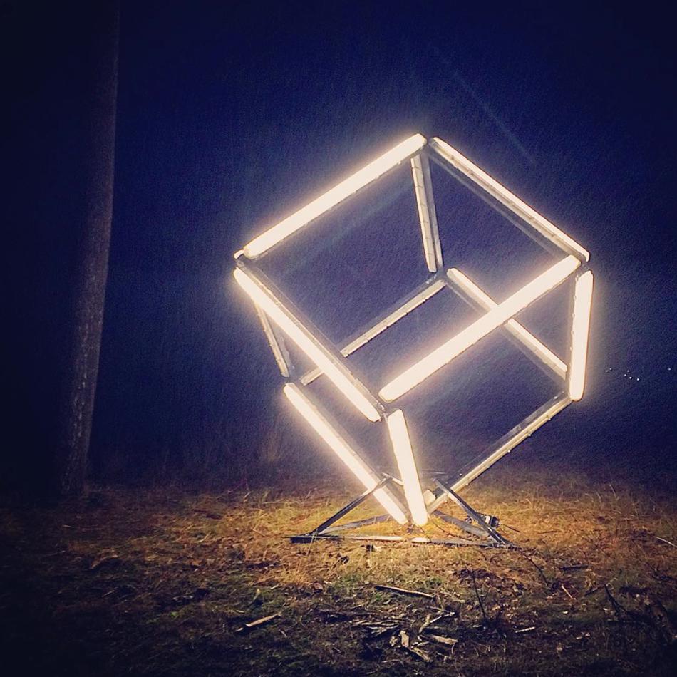 Fluorescent Light Cube