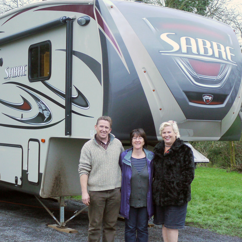 Sabre 5th wheel and happy customer