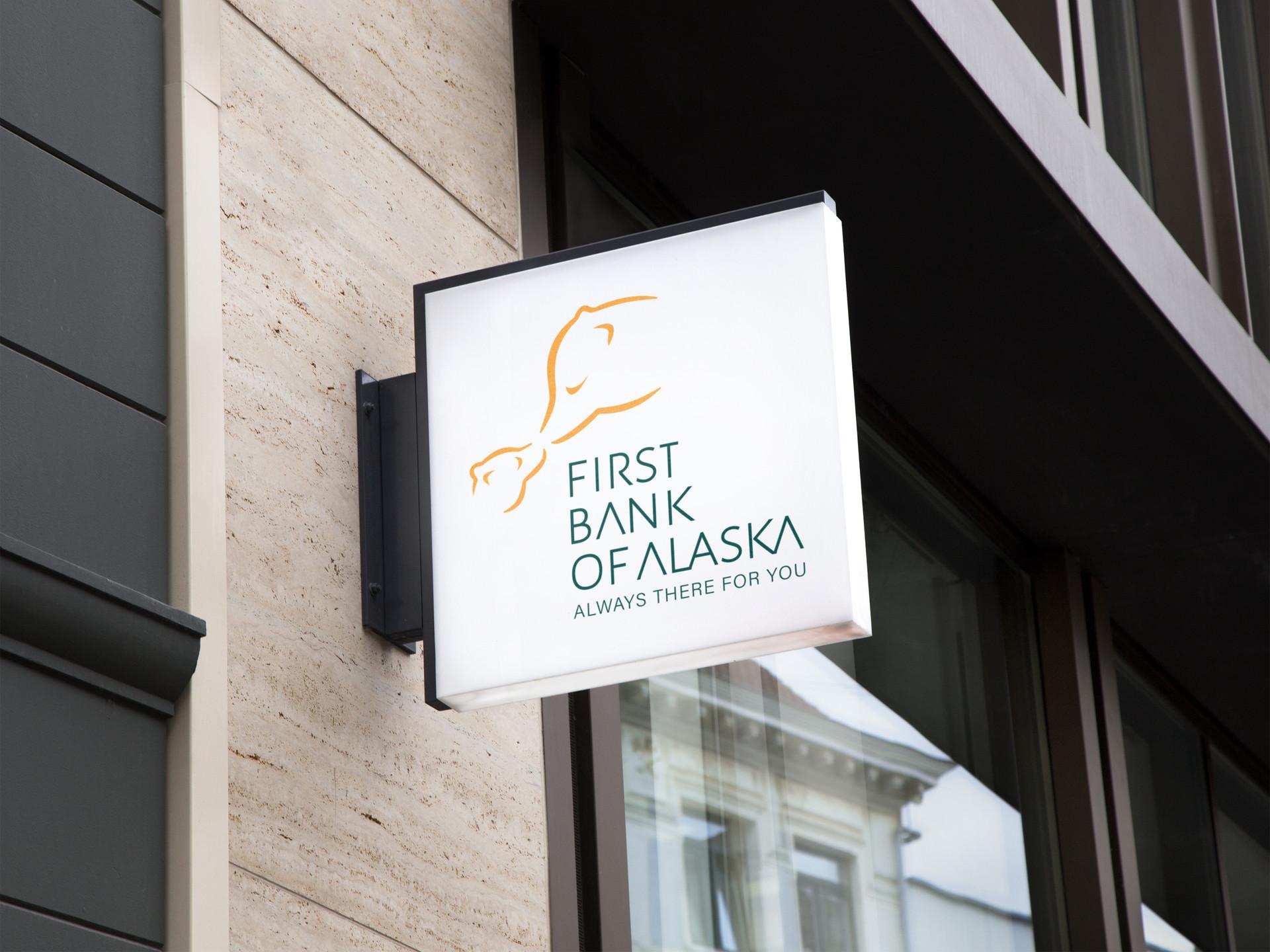 First Bank of Alaska Signage