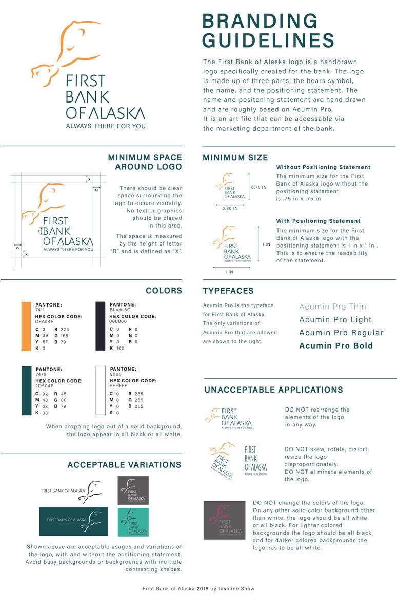 First Bank of Alaska Branding Guides