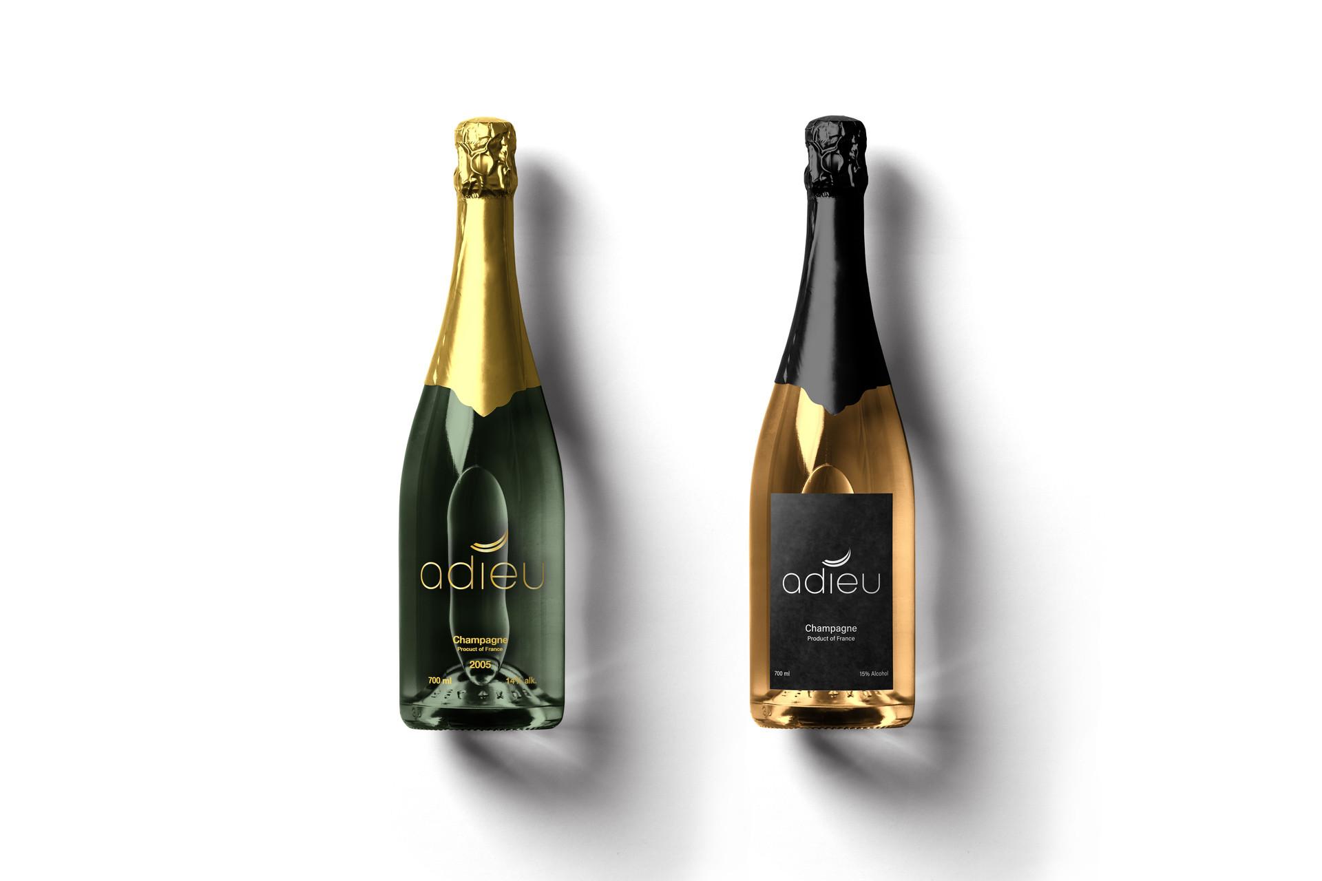 Adieu Champagne Bottle