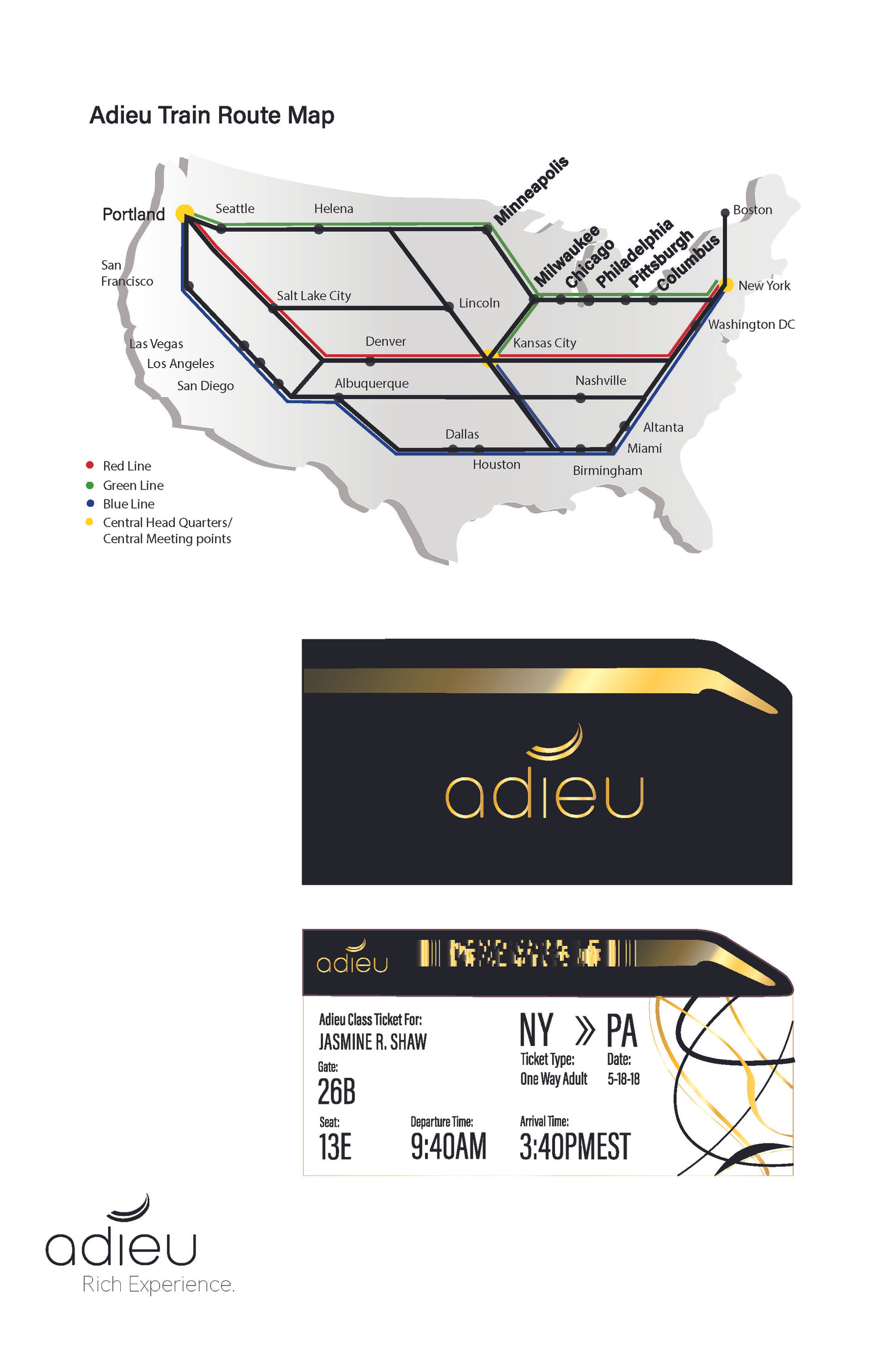 Map and Ticket