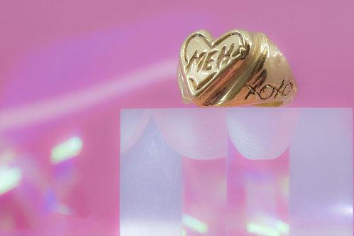 Cross Meh Heart Ring
