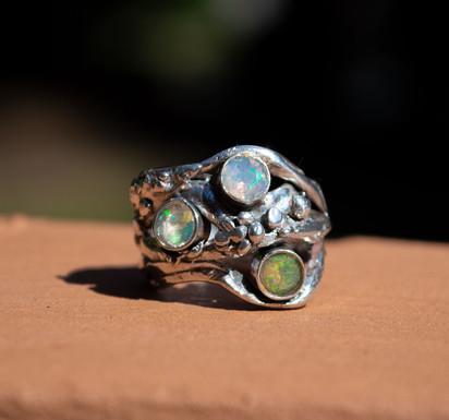 Australian Opals in Silver