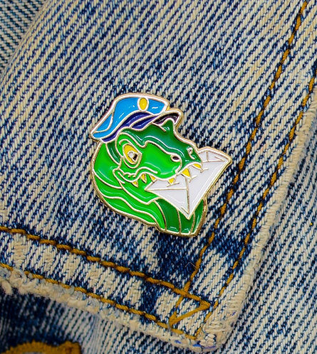 DINO DELIVERY PIN// T-REX STAMPS