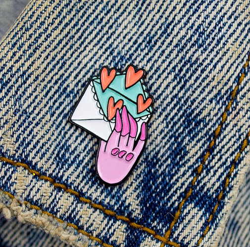 SEND LOVE PIN// BOUTONNIERE STAMPS