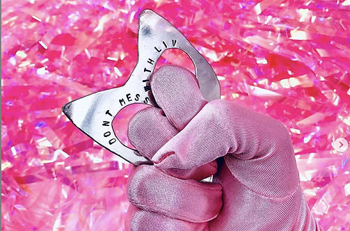 Self Defense Kitty Keychain