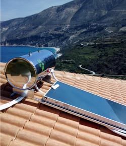 New Solar tank installation