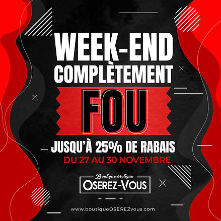 Black Friday Boutique Érotique Oserez-Vous