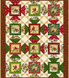 Block Talk Stars featuring Christmas Cardinals by QT Fabrics 02/2021
