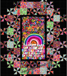 Grand Central in Rainbows and Sunshine by Michael Miller Fabrics