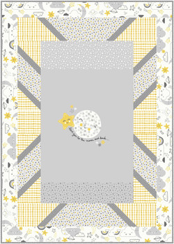 Panel Pop in To The Moon And Back by Michael Miller Fabrics