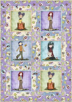 Block Talk Stars in Garden Girls by QT Fabrics