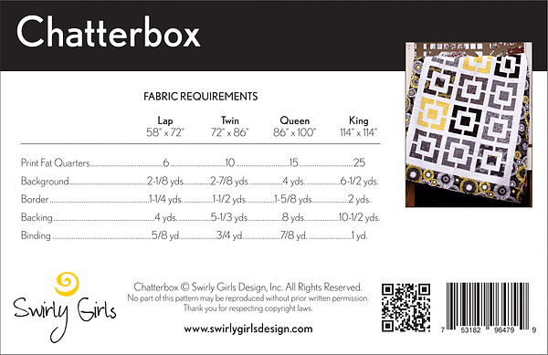 Chatterbox Back Cover