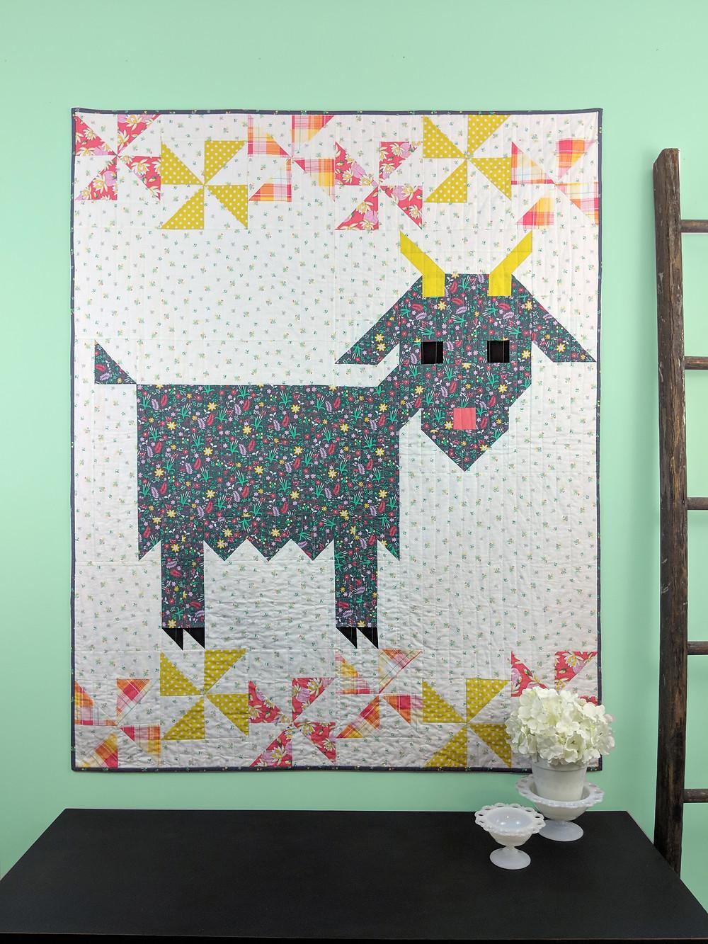 Delilah Goat Quilt Pattern