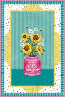Panel Frames in Hello Sunshine by Michael Miller Fabrics