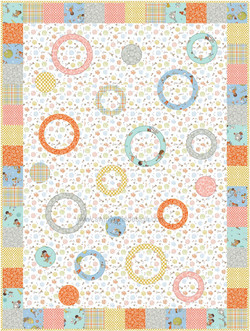 Ring Toss in Sew Seeds of Love by Michael Miller Fabrics