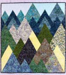 Mountains in Batiks - Wall Hanging