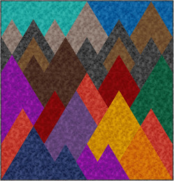 Mountains in Rapture by QT Fabrics