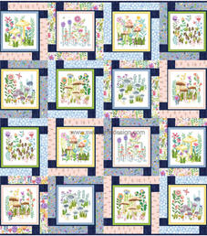 Block Talk in Be Kind To All That Grows by Michael Miller Fabrics
