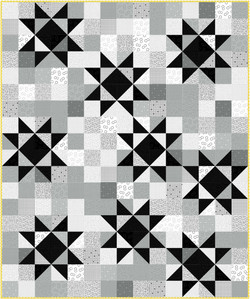 Twinkle quilt in Graydations by Michael Miller Fabrics