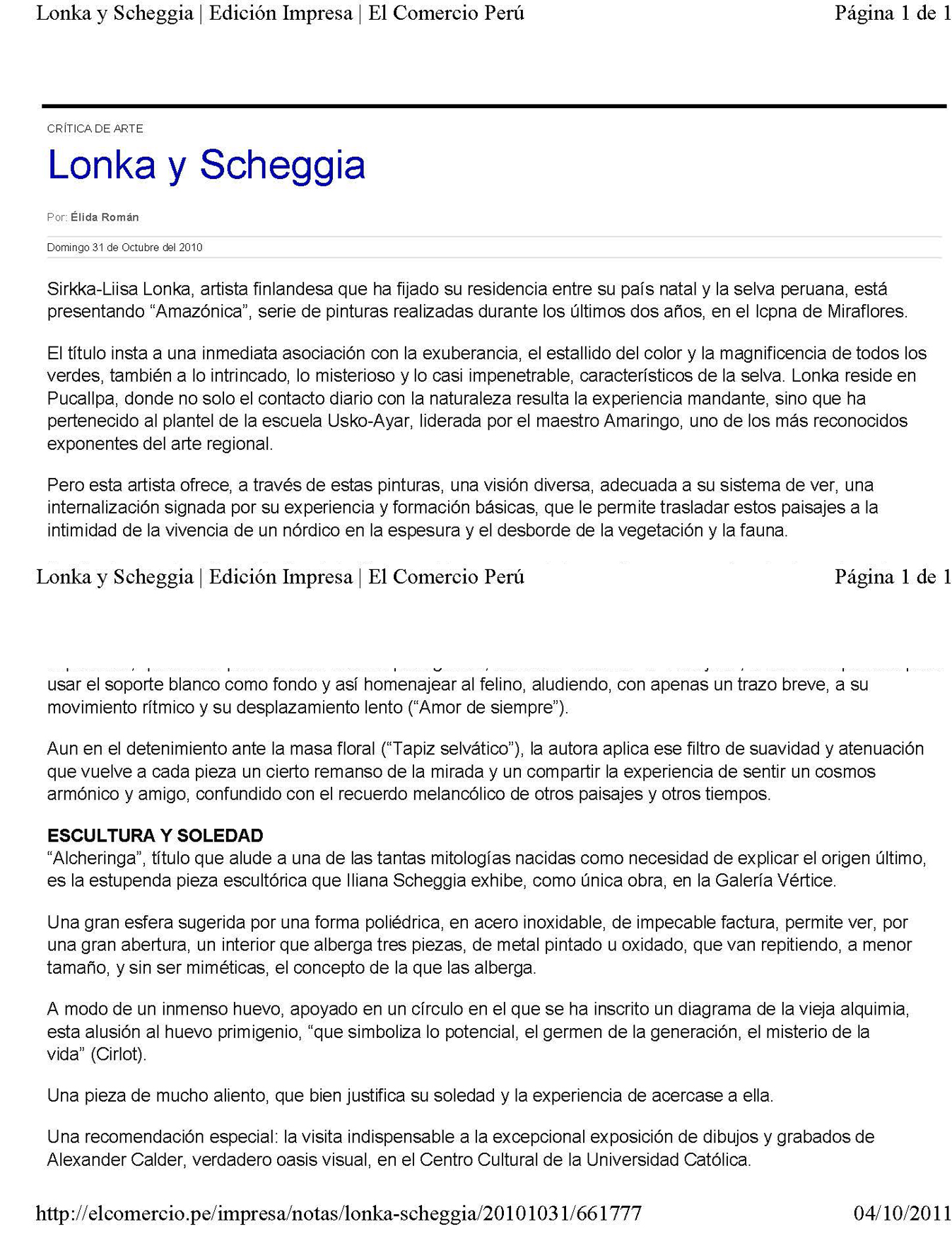 Lonka y Scheggia