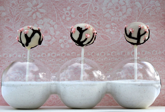 Cherry Blossom Cake Pops