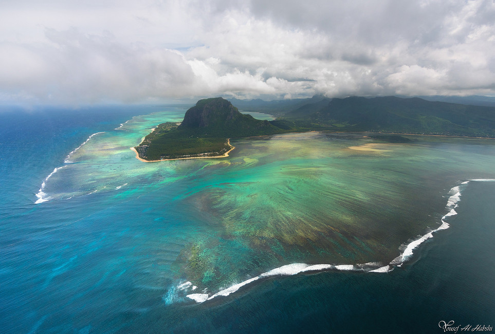 The Underwater waterfall - Mauritius