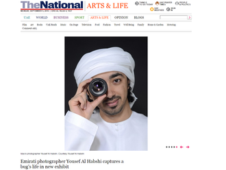Emirati photographer Yousef Al Habshi captures a bug's life in new exhibit