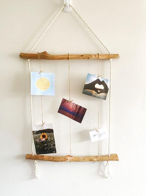 Twine Photo Display Hanger, Wall Display with Mini Clothespins