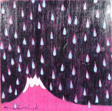 富士山と青い雨