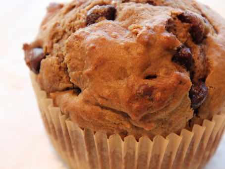 mocha chocolate chip muffin February's muffin