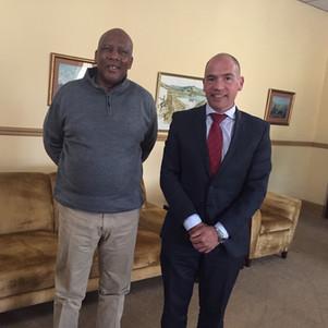 Robert Frazer with His Majesty King Letsie III of Lesotho