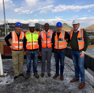Frazer Solar team conducting a site inspection in Maseru, Lesotho