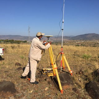 Topographical study at the Edwaleni project site.
