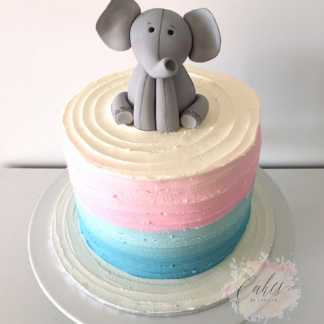 pink/blue baby elephant