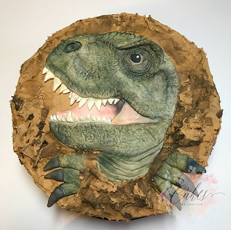 dinosaur face with optional claws