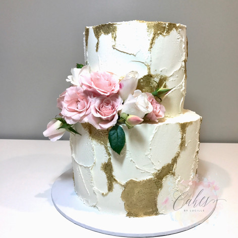 white & gold rustic