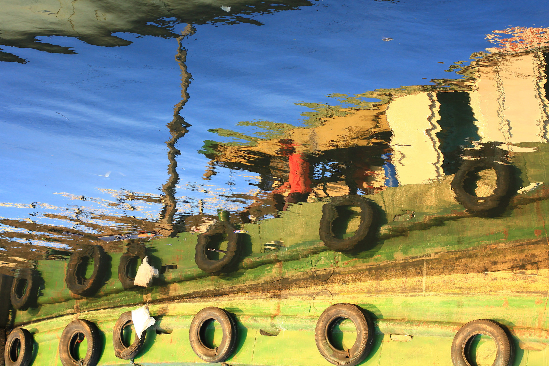 Boat-Reflection-Water