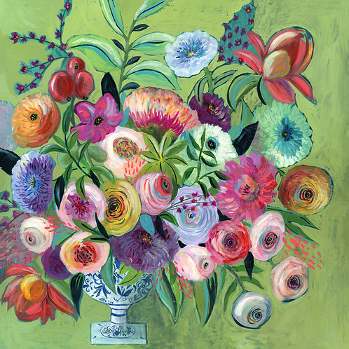 Tuscany - Acrylic Flower Painting Print