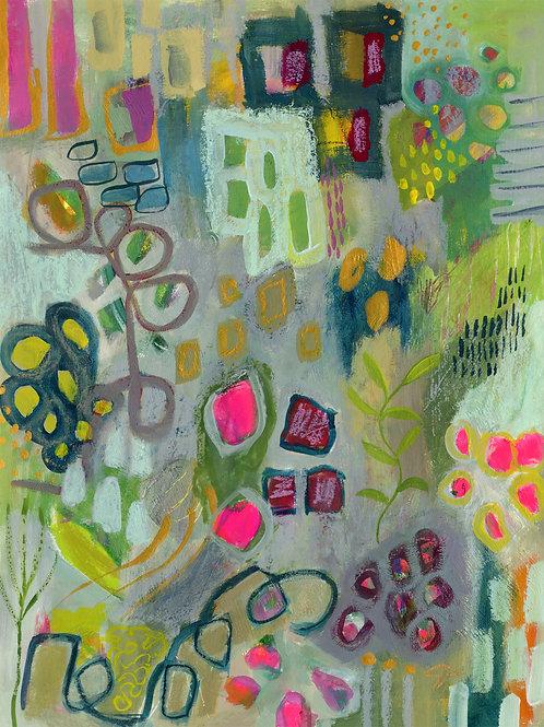 A Garden of Love - Original, 11x15 on paper