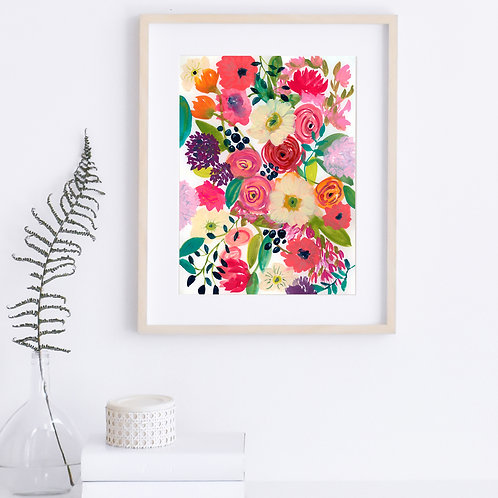 Happiness in Bloom - Original, 11 x 15 on paper