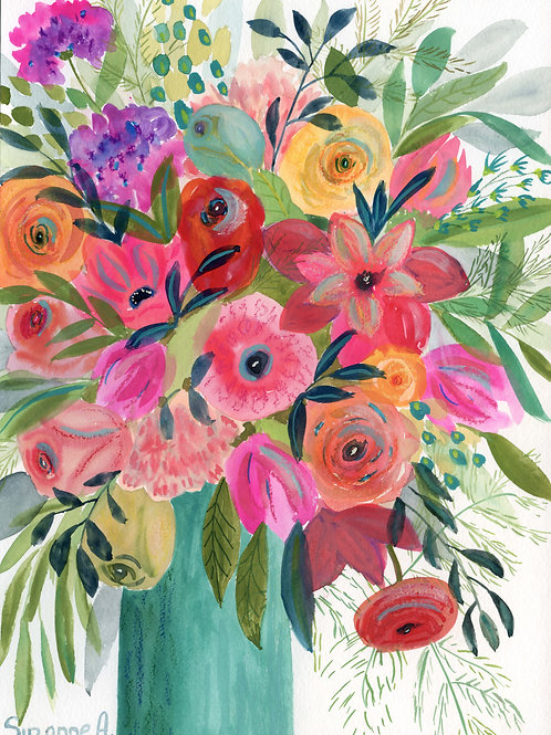 Calypso Flower Print