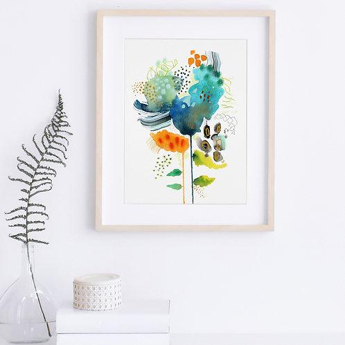Turquoise Loves Orange - Print