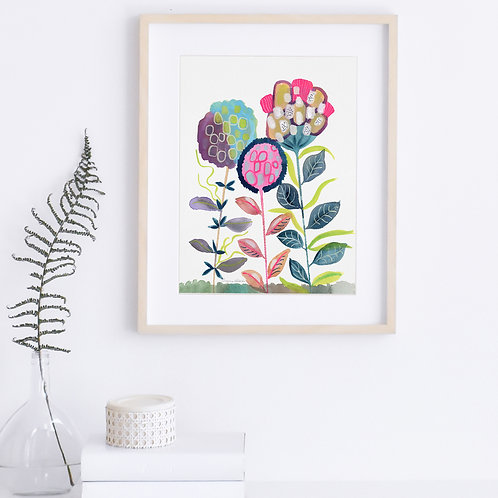 Three Blooms - Print