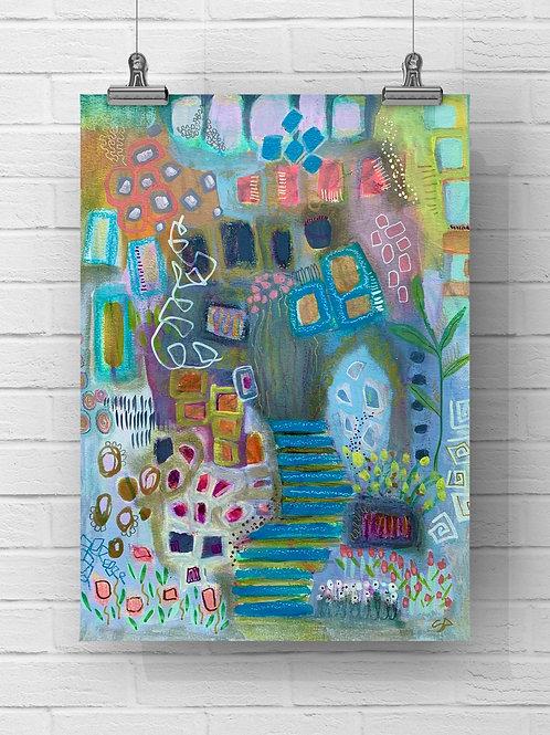 Soft Rain - Original, 11x15 on paper