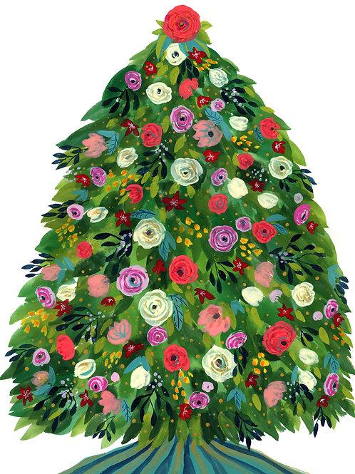 Christmas Holiday Tree - Print