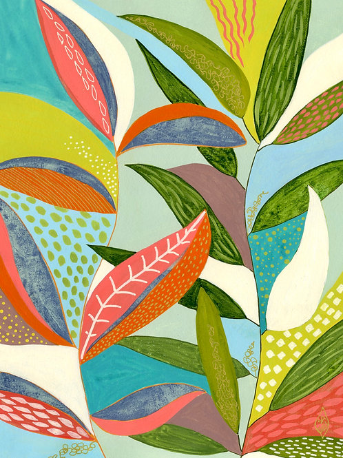 Sarasota Garden - Vertical Giclée Print