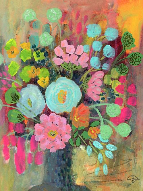 Sunset Blooms - Vertical Giclée Print