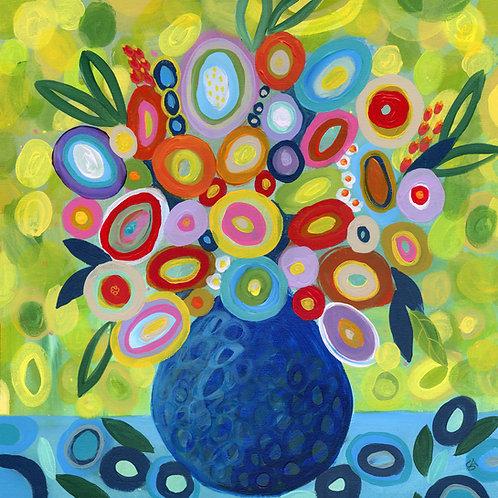 Blue Lemonade - Square Giclée Print